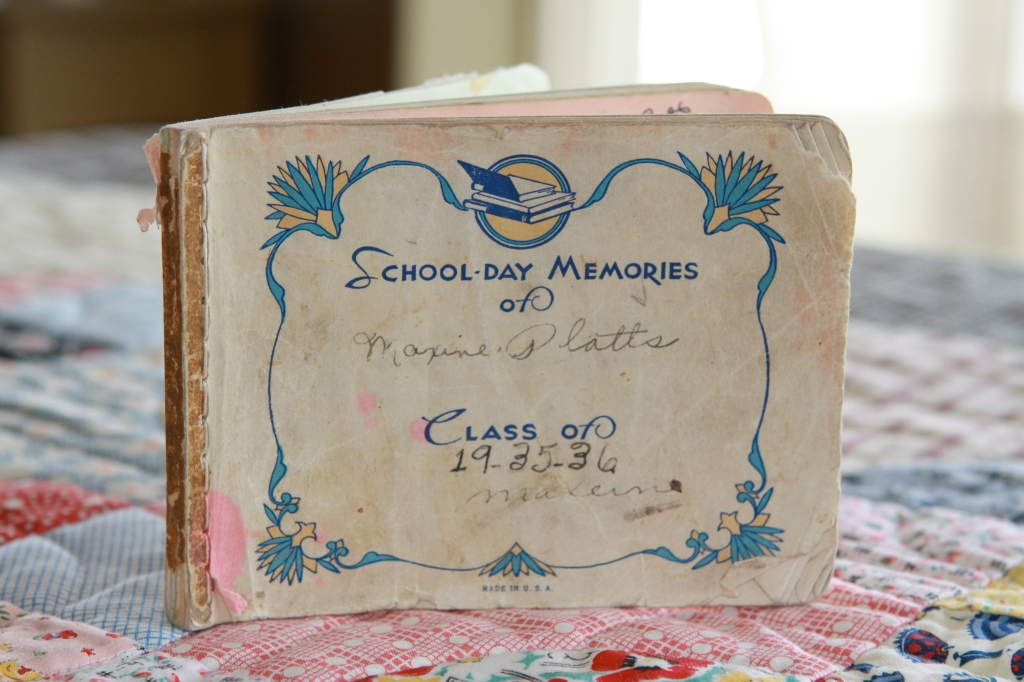 Grandmother Maxine's Class Memory Book from 1935-1936