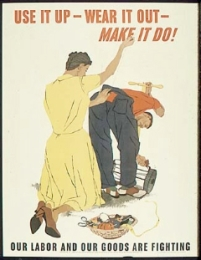 Make it do or do without - poster encouraging recycling and conservation for World War II