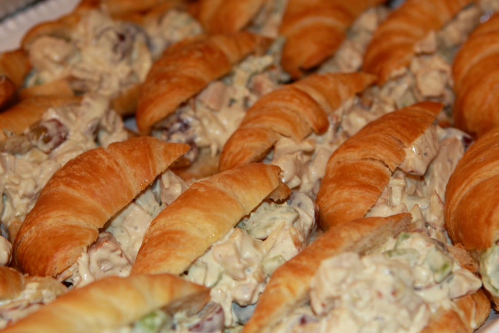Chicken Salad on Croissants ready for a Crowd