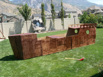 How to make a cardboard pirate ship playhouse nz