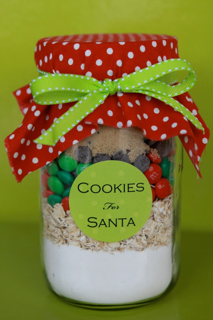 Cookies in a jar for santa for Christmas cookies to make for gifts