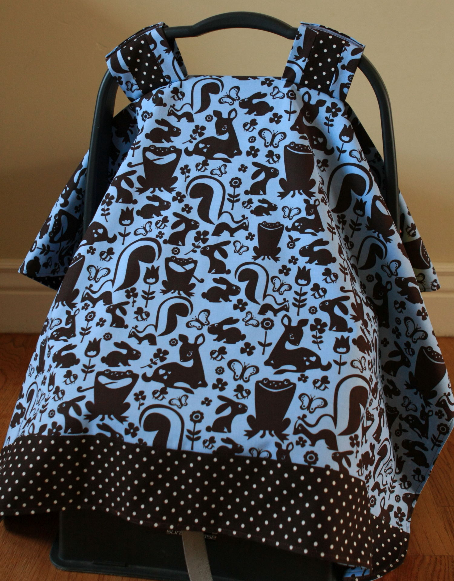 Baby Car Seat Canopy Tutorial