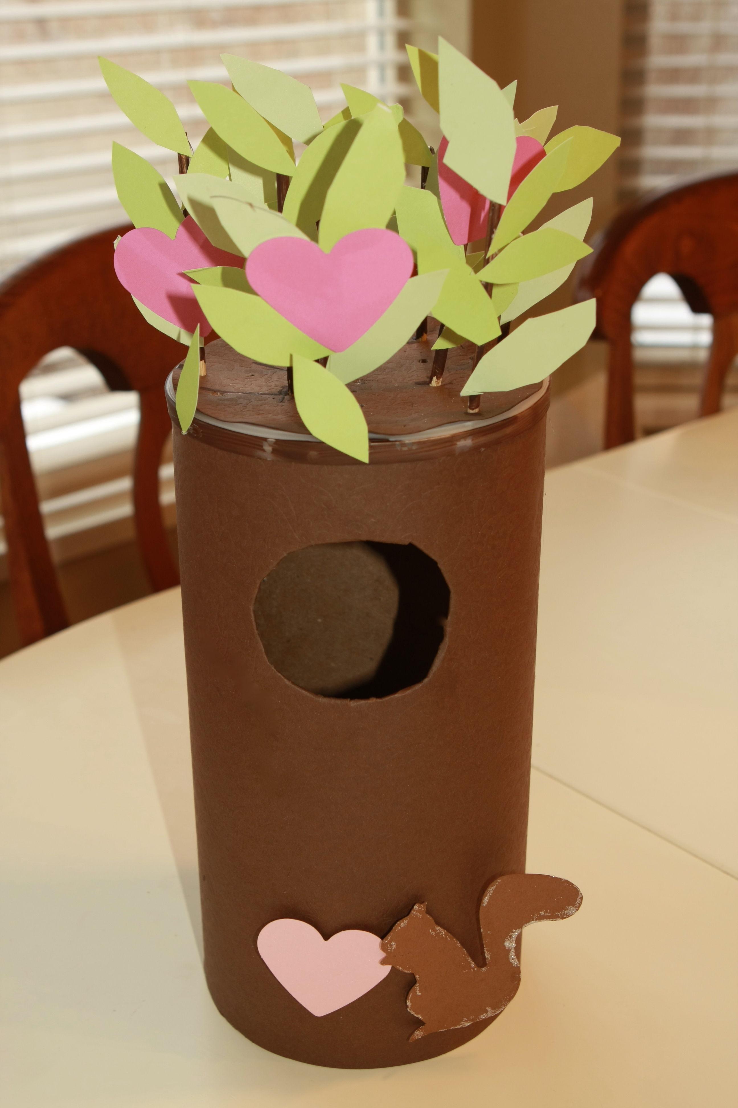 Valentine S Day Squirrel Tree Card Box Craft Preschool Crafts For Kids
